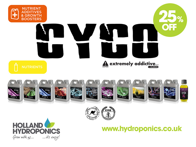 25% Off CYCO Nutrients & Supplements
