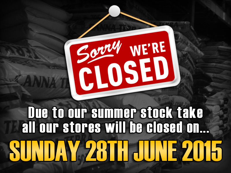 Closed 28th June 2014 - Stock Take