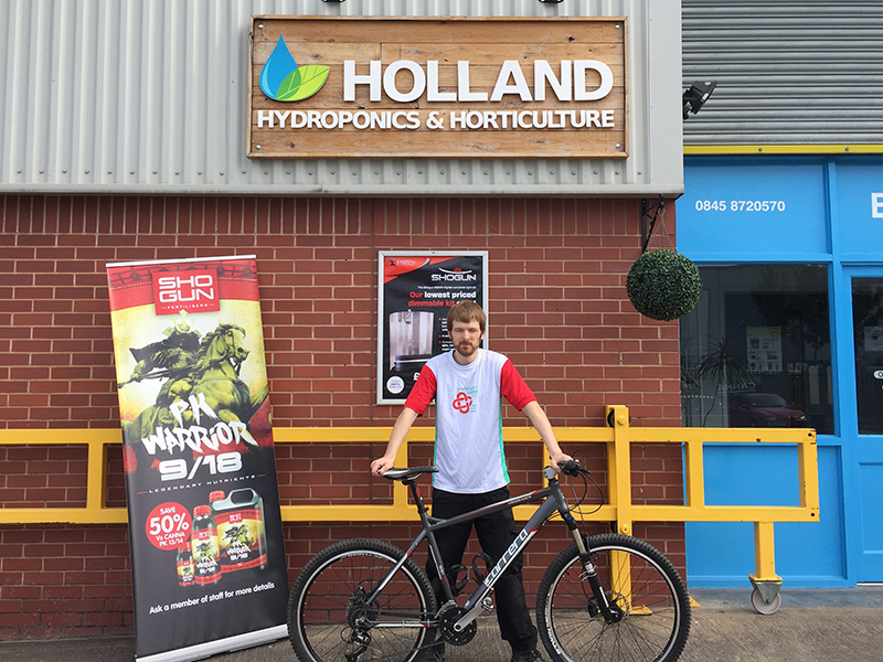 Nick Owen & his mountain bike