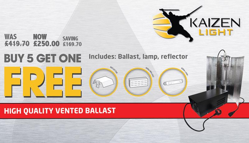 Kaizen 600w Light Kit - Buy 5 get 1 free