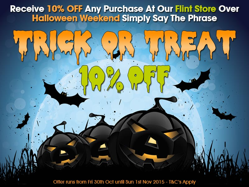 10% Off At Flint Over Halloween