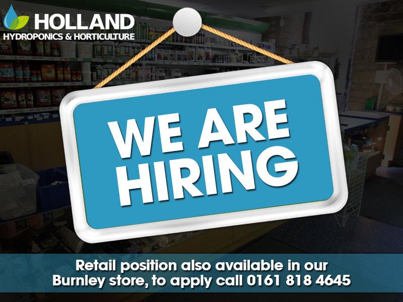 We are hiring in Burnley