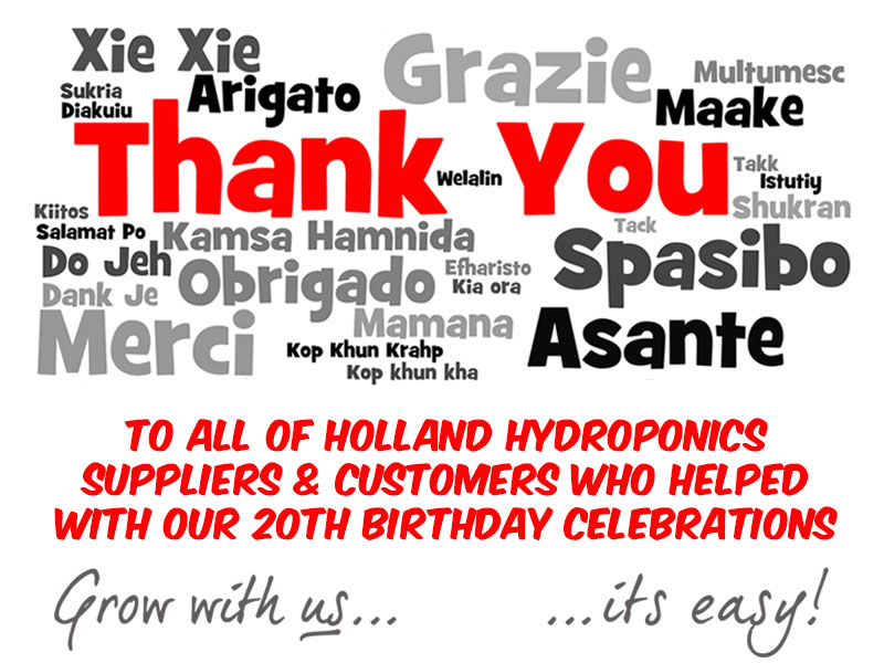 Thank You to all our customers & suppliers