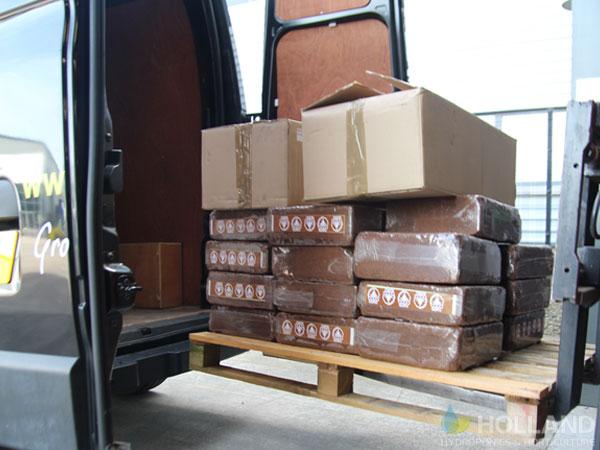 CocoGuro & BioTabs being loaded into the van