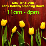 May Bank Holiday 2017 Opening Times