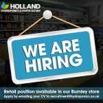 We're Hiring! Retail Position Available At Our Burnley Store